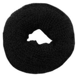 Wypełniacz do włosów donut - czarny - 6cm - WYP39