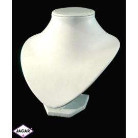 Ekspozytor półpiersie - biały - 30cm
