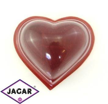 Pudełko czerwone, etui serce - śr. 6cm