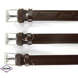 Pasek skóra - brązowy - 3/120 (mix wzorów)