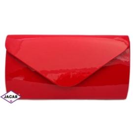 Torebka wizytowa lakierowana - czerwona - 29x16cm
