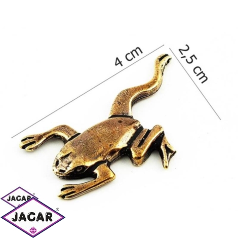 Figurka metalowa - żabka - 10sz/op FZ9