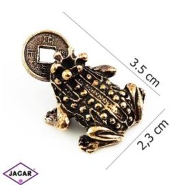 Figurka metalowa - żabka - 10szt/op FZ3