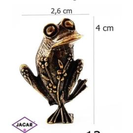 Figurka metalowa - żabka - 10sz/op FZ12