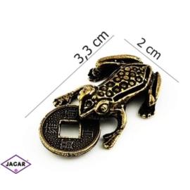 Figurka metalowa - żabka - FZ10