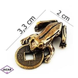 Figurka metalowa - żabka - FZ20