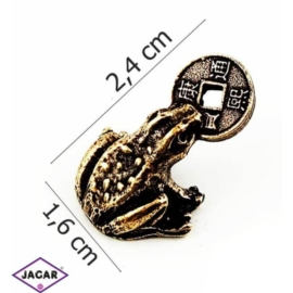 Figurka metalowa - żabka - FZ16