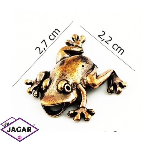 Figurka metalowa - żabka - 10szt/op FZ18