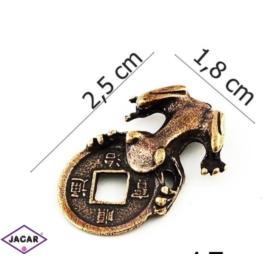 Figurka metalowa - żabka - FZ15