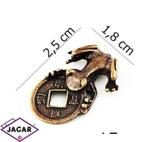 Figurka metalowa - żabka - 10sz/op FZ15