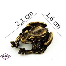 Figurka metalowa - żabka - FZ21