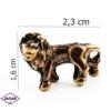 Figurka metalowa - zodiak Lew 10szt/op ZM4
