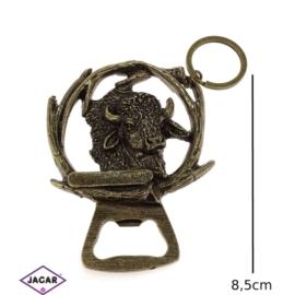 Brelok metalowy - otwieracz żubr BM67