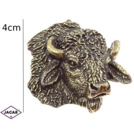 Figurka metalowa - żubr (głowa) - 5szt/op FR71