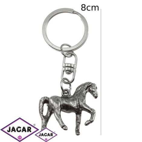 Brelok - srebrny koń - 12szt/op BM21