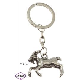Brelok metalowy - koza srebrna - BM8