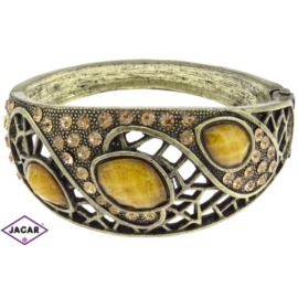 Bransoletka na rękę, sztywna - złota-zółta BSZ96