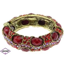 Bransoletka na rękę, sztywna złoto-czerwone BSZ86