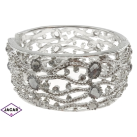 Bransoletka na rękę, sztywna - srebrna BSZ61