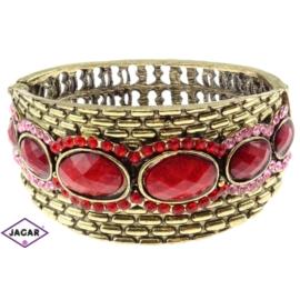 Bransoletka na rękę, sztywna złoto-czerwona BSZ50