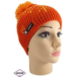 Czapka - młodzieżowa - pomarańcz - obwód: 40cm C29