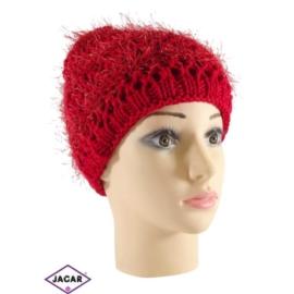 Czapka damska - czerwona - uniwersalna - CD23