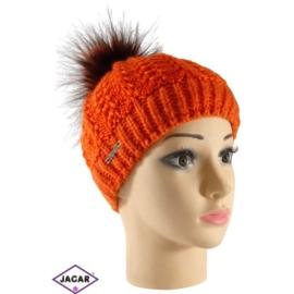 Czapka młodzieżowa - pomarańcz - uniwersalna C106