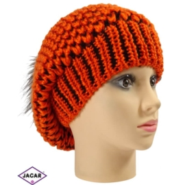Czapka młodzieżowa - pomarańcz - uniwersalna C130