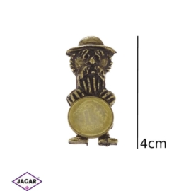 Figurka metalowa - Żyd z monetą 10szt/op FR113