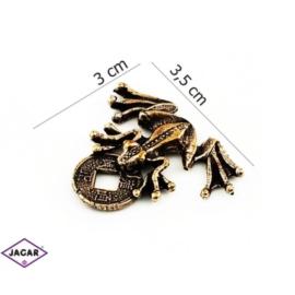 Figurka metalowa - żabka - FZ14