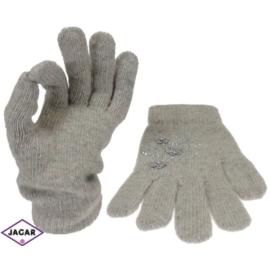 Rękawiczki damskie - szare - długość 24cm RK23