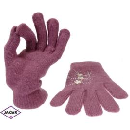 Rękawiczki damskie - wrzosowe - długość 24cm RK27