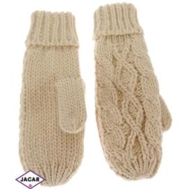 Rękawiczki - beżowe - długość 24cm RK30