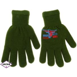 Rękawiczki chłopięce - zielone - długość 18cm RK75