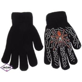 Rękawiczki chłopięce - czarne - długość 17cm RK87