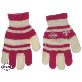 Rękawiczki dziecięce- malinowe- długość 16cm RK102
