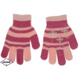 Rękawiczki dziecięce - różowe - długość 16cm RK104