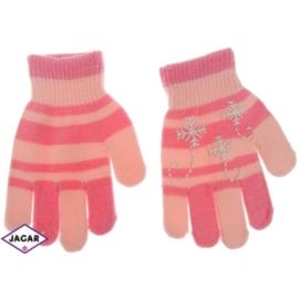 Rękawiczki dziecięce - różowe - długość 16cm RK105