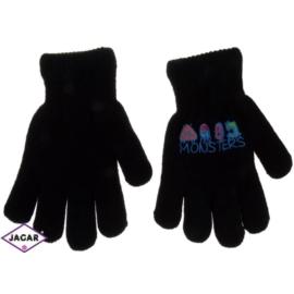 Rękawiczki chłopięce - czarne - długość 16cm RK113