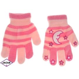 Rękawiczki dziecięce - różowe - długość 14cm RK115