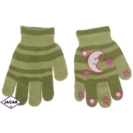 Rękawiczki dziecięce - zielone- długość 14cm RK116