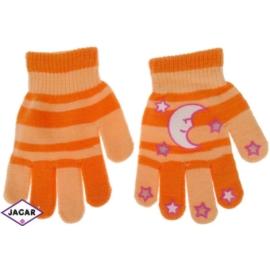 Rękawiczki dziecięce-pomarańcz-długość 14cm RK118
