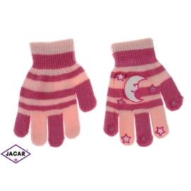 Rękawiczki dziecięce - różowe - długość 14cm RK119