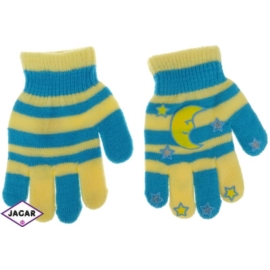 Rękawiczki dziecięce- turkusowe-długość 14cm RK121