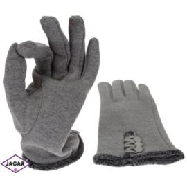 Rękawiczki damskie - szare - długość 24cm RK177