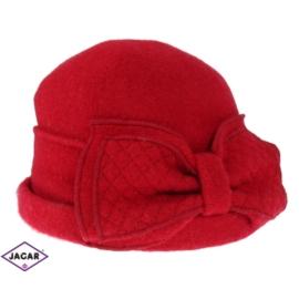 Kapelusz z dzianiny - czerwony 559 L - D339