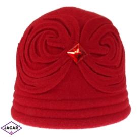 Kapelusz z dzianiny - czerwony 002 L - D327