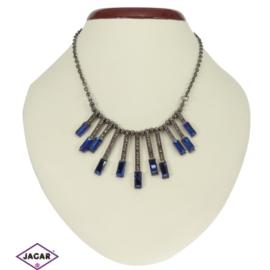 Naszyjnik - niebieskie kryształki - obw 43cm NA80
