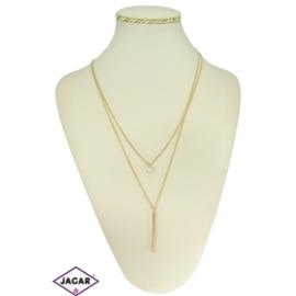 Naszyjnik - złoty łańcuszek - obwód 80cm NA97