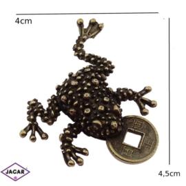Figurka metalowa - żabka - FZ28